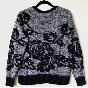 Gap Marled Floral Sweater